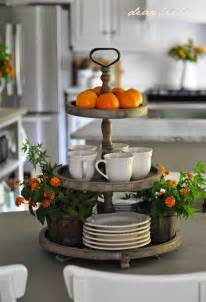 3 tier round display for the kitchen island decor and trays decoration kitchen island decor with lighting stylish