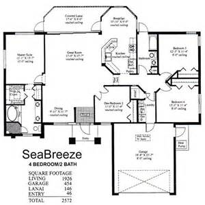 Floor Plans For A 4 Bedroom House House Layouts 4 Bedroom Sea Four Bedroom House