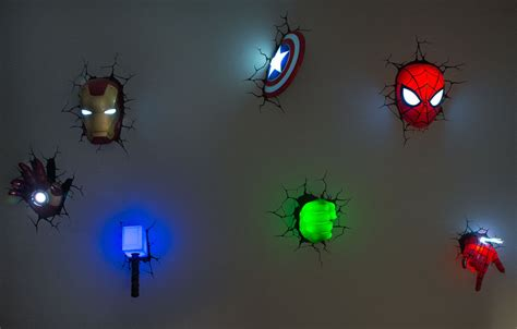 marvel 3d wall lights world of superheroes