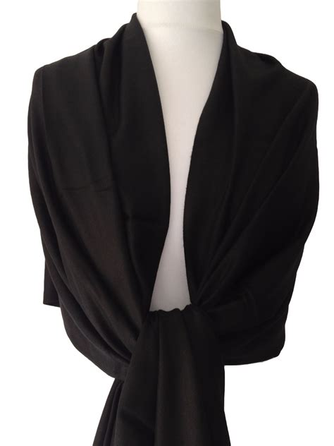 Pashmina Black black pashmina fair trade wrap shawl scarf wedding prom pashmina wrap