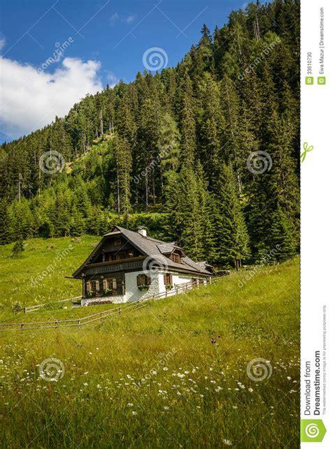 alpine house alpine house stock photo image 33610730