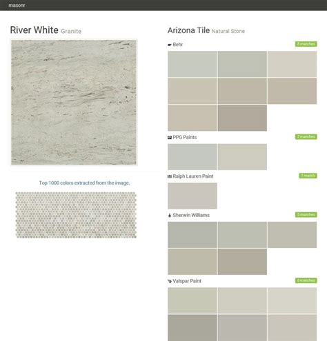 river white granite arizona tile behr