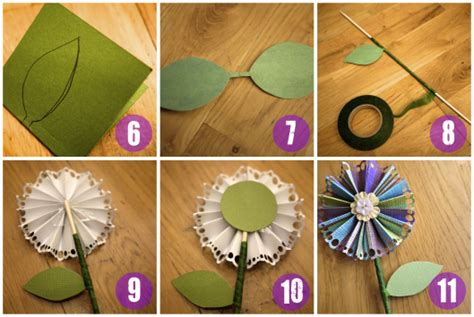 How To Make A Paper Fan Flower - how to make a fan paper flower handmade4all