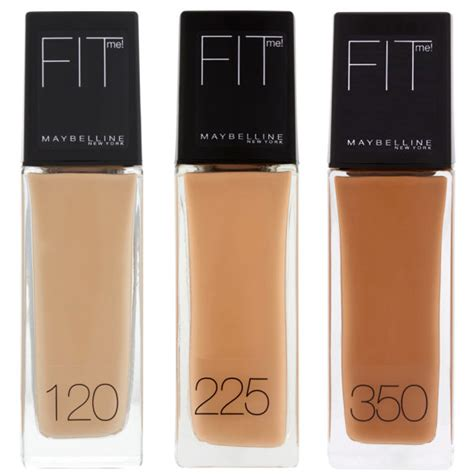 Maybelline Fit Me Liquid Foundation drugstore finds stay matte with maybelline fit me shine