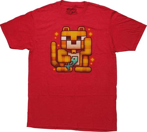 T Shirt Lucky Bob minecraft lucky ocelot t shirt