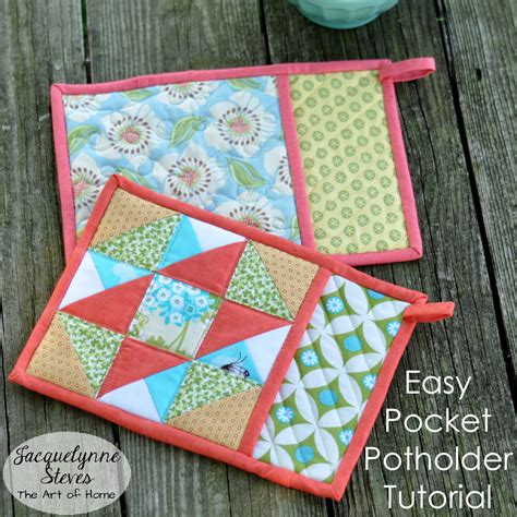 pot holder pattern easy pocket potholder tutorial jacquelynne steves