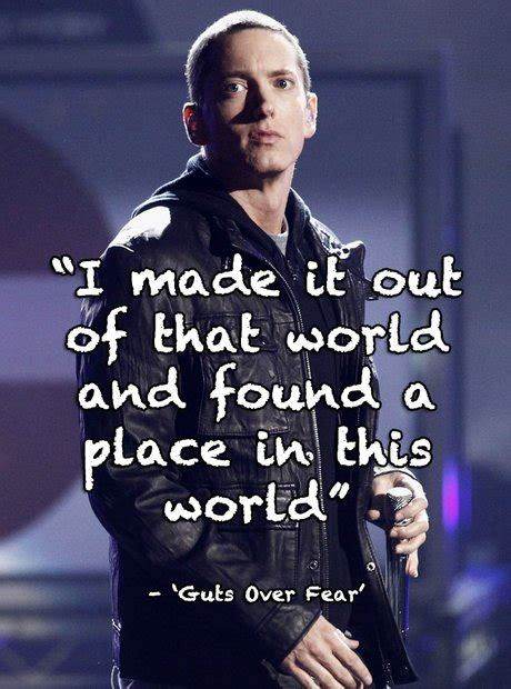 eminem untitled lyrics quot i made it out of that world and found a place in this