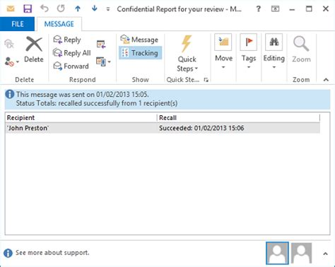 recalling emails from outlook 2013, 2010, 2007, 2003