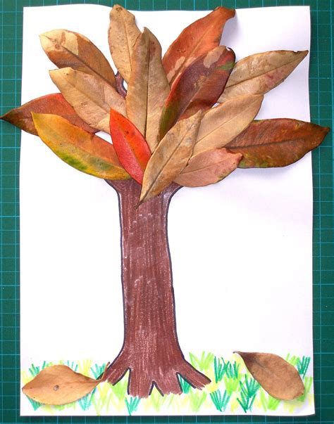 leaf craft for autumn lights picture autumn crafts