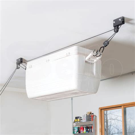 Ceiling Storage Pulley System by Kayak Hoist Bike Lift Pulley System Garage Ceiling Storage