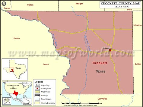 map of crockett texas crockett county map map of crockett county texas