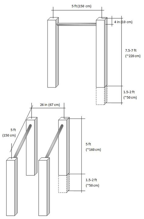 backyard pull up bar plans plans and material list for a diy pull up bar ideas