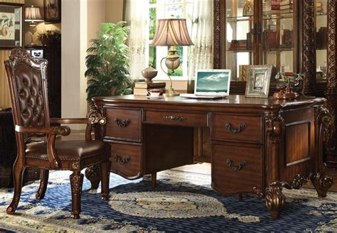 cherry home office desk vendome executive home office desk in cherry finish by
