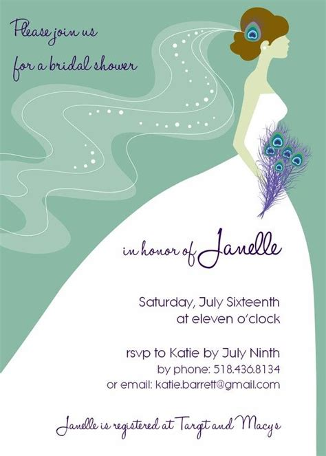 Wedding Shower Invitations Peacock