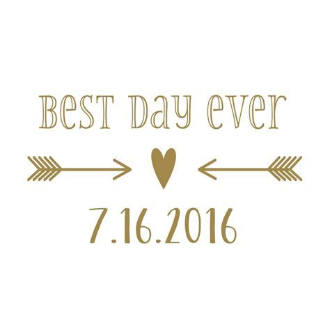Custom Wedding Vinyl Decal Set for Cornhole   Best Day