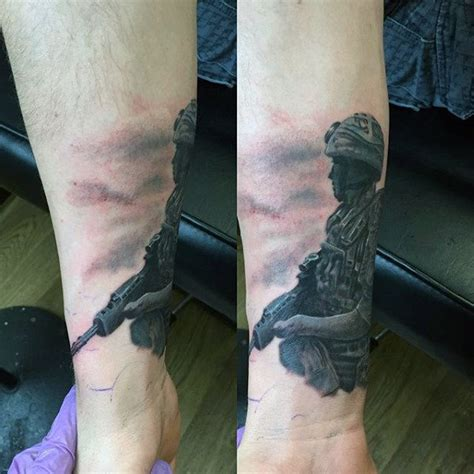 tattoo on wrist military 90 army tattoos for men manly armed forces design ideas