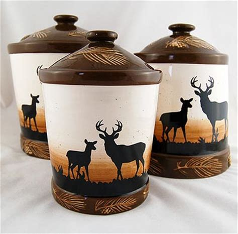 rustic kitchen canister sets rustic deer canister set