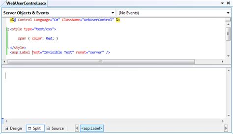 layout blog entry workaround empty design view for user controls asp net blog