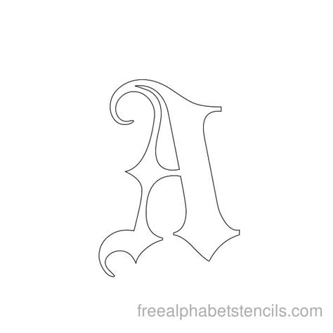 alphabet stencil coloring pages free coloring pages of letter gothic alphabet