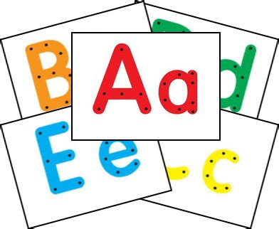 alphabet card free template make your own lacing cards kindergartenklub