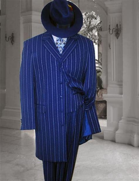 Mens Suit Jacket Runningtraining Blackwhite 100 Original royal blue white stripe 3pc fashion zoot suit 38 ja