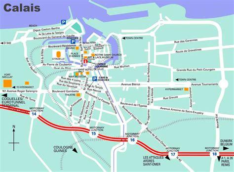 calais map calais tourist map