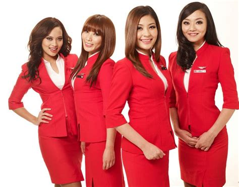 airasia uniform air asia flight attendants airasia pinterest flight