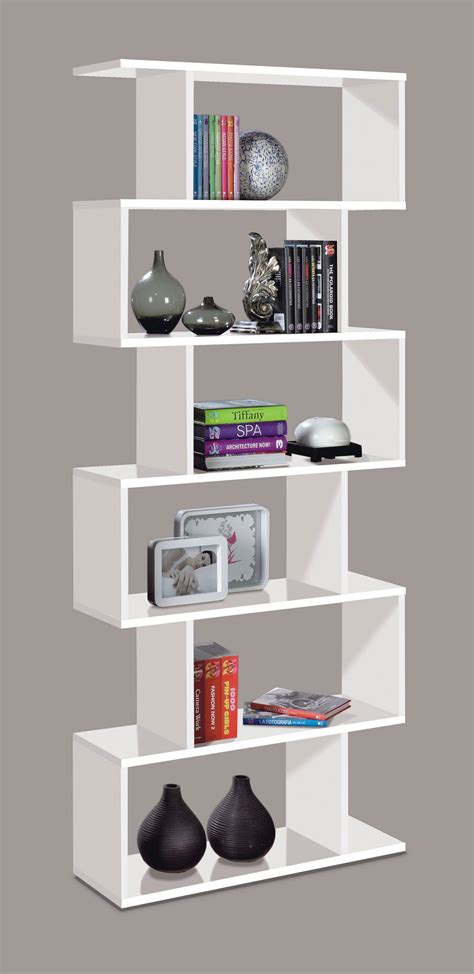 Open Back Bookcase Modern Bookshelf By Furniturefactor Uk White Gloss Bookcase
