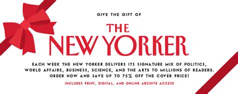 1 Year New Yorker Subscription - new yorker magazine gift subscription