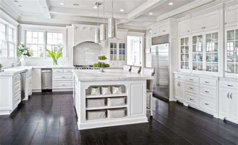 kitchens with white cabinets and dark floors 45 luxurious kitchens with white cabinets ultimate guide