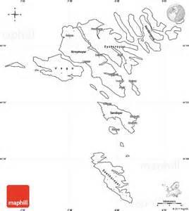 blank simple map of faroe islands cropped outside