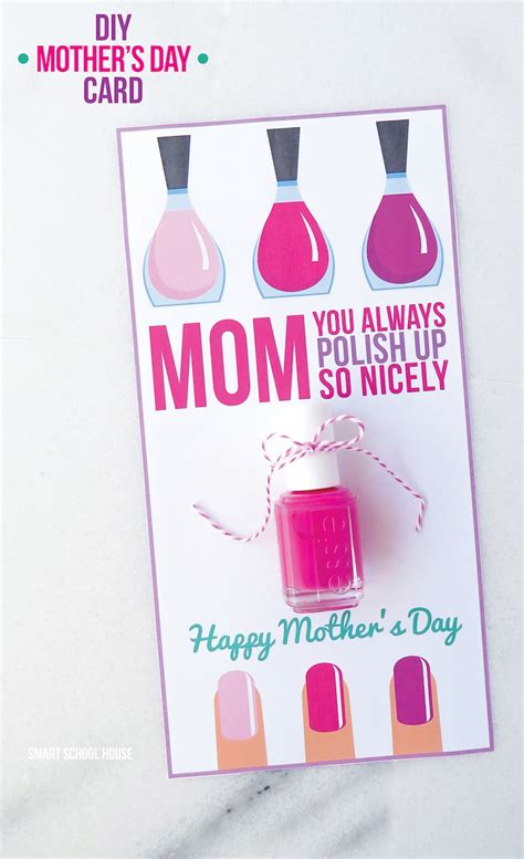 diy mother s day card nail polish mother s day card