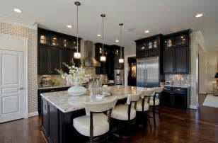 kitchens dark cabinets white kitchen cabinets black island images