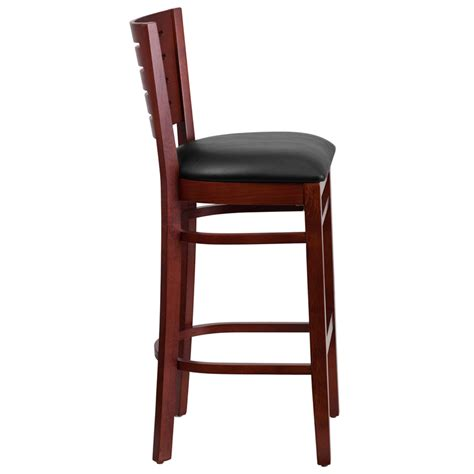 restaurant quality bar stools wood slat back barstool
