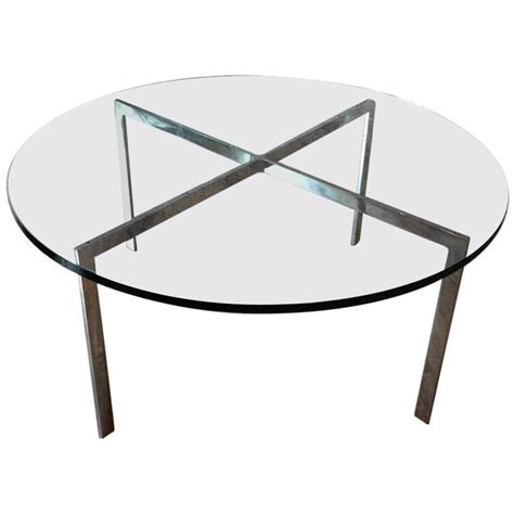 chrome x base coffee table with green glass top for sale
