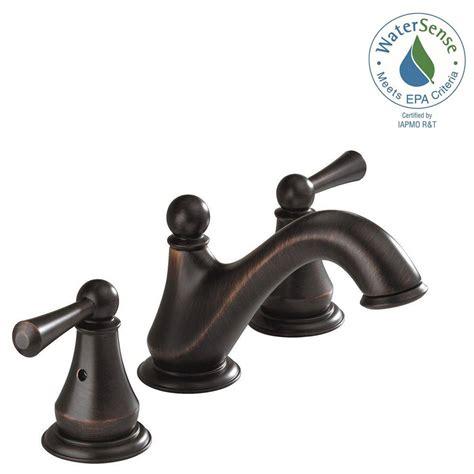 delta venetian bronze bathroom faucet delta haywood 8 in widespread 2 handle bathroom faucet in