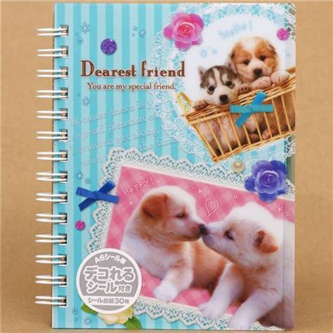 puppy baby book turquoise striped sticker album book with baby puppy sticker books sticker