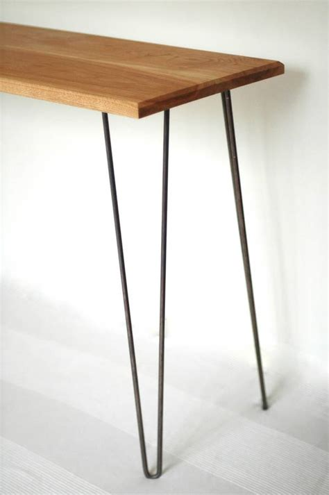 margot console table desk with hairpin legs by renn uk