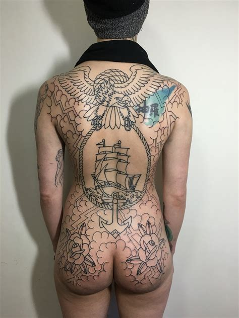 traditional back tattoos american traditional back the movement
