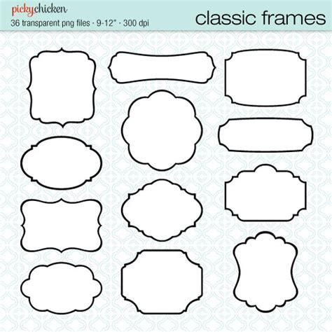 printable label borders 36 classic frames black white digital printable labels