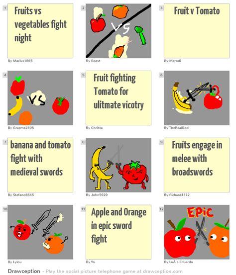 vegetables vs fruits fruits vs vegetables fight