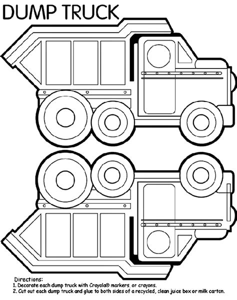 crayola free coloring pages cars trucks other vehicles dump truck box crayola au