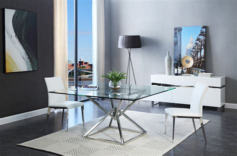 modern glass dining room table modrest xander modern square glass dining table modern