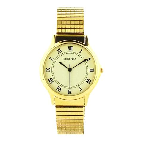 sekonda 3024b mens gold plated expander