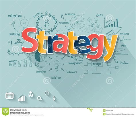 layout design strategy vector business strategy concept stock vector