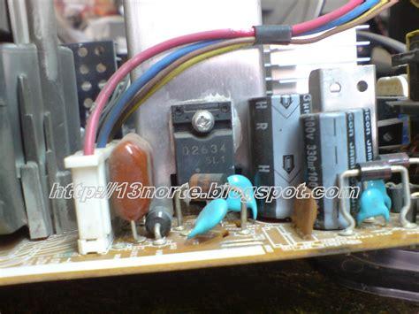 transistor de salida horizontal kv 25fs120 dos destellos en led laboratorio electr 243 nico fallas electr 243 nicas resueltas