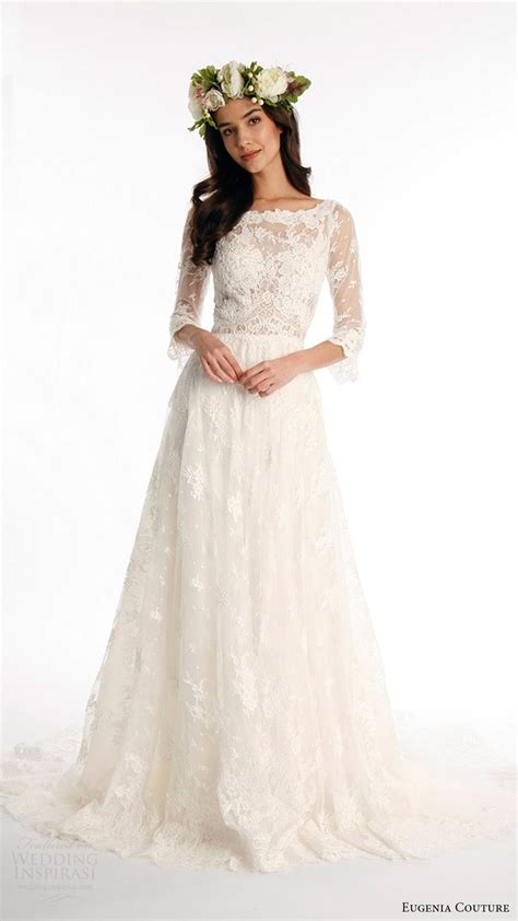 Aline Sleeve 1000 images about 3 4 sleeve wedding dresses on
