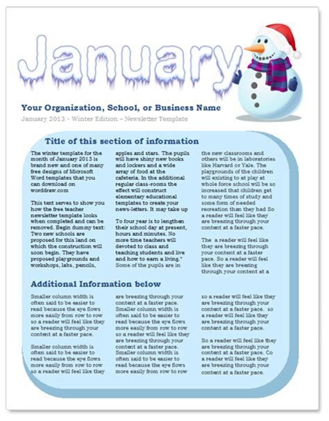 january newsletter template newsletter template out of darkness