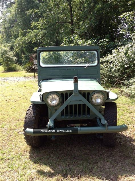 1952 Jeep Willys 1952 Willys Overland Jeep Serial 175853 Model Cj2a