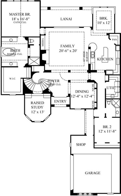 italian floor plans italian style house plans 3732 square foot home 2
